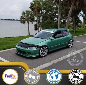 FENDER COVERS + HOOD BRA SET Fits Honda Civic 92 93 94 95 1992 1993 1994 1995 EG