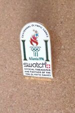 Atlanta 1996 Olympics Olympic torch logo Swatch Official Timekeeper lapel pin