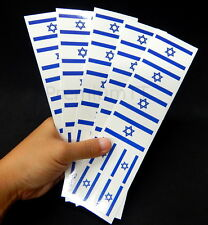 40 Removable Stickers: Israeli Flag, Israel Party Favors, Decals