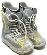 Burton Foundation Womens Boots Sz Us 7 Eur 38 Uk 5 Gray&Yellow Snowboard Lace Up