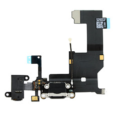 Charging Sync Port USB Dock Mic Connector Flex Cable For iPhone 5 5G Black UK