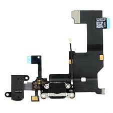 Charging sync port usb dock mic connecteur câble flex pour iphone 5 5G uk noir