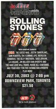 MINT ORIGINAL '03 ROLLING STONES AC/DC RUSH THE GUESS WHO TORONTO CONCERT TICKET
