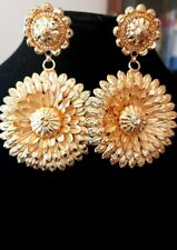 22K GOLD PLATED STUNNING LARGE EARRINGS DESIGNS