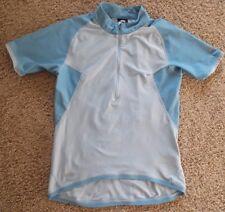 NIKE ACG  Cycling Biking Running Jersey 1/2 Zip short/sl BLUE shirt Women S (4-6