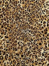 Jaguar Wild Animal Skin Print Fabric Its a Jungle Out There 25 x 42 in Piece
