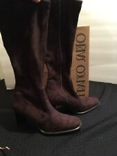 Franco Sarto Women's Size 6 Faux Seude Brown Boots With Box