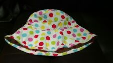 summer hat for girls polka dots rainbow colors new without tags