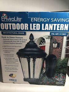 Envirolite LED Outdoor Energy Saving Dusk to Dawn Wall Mount Lantern #511963