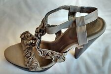Boden Womens Ladies Beige Fabric High Heel Summer Evening Sandals Size 6/39 New