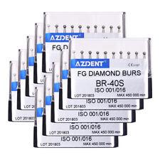 50X Dental High Speed Super Coarse Diamond Burs Ball Shape BR-40S 10pcs/box