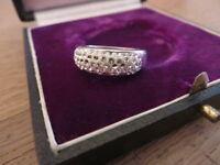 Eleganter 925 Silber Ring Designer Modern Defekt Zirkonia Vintage Modern Top