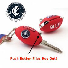 Carlton Blues Football FLIP House Key Blank Keyring -IN STOCK NOW! Free Postage
