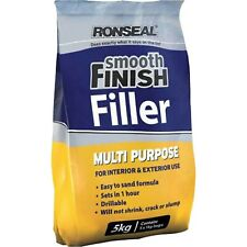Ronseal RSLMPWF5KG 5Kg Multi-Purpose Interior Wall Powder Filler with Smooth ...