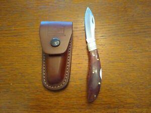 Original Grohmann Pictou NS Plain Edge Wood Handle Lockback Pocket Knife Canada