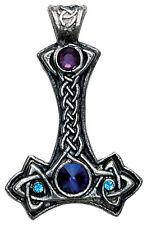 Thor's Hammer Viking Necklace w/ swarovski crystals TH03 EV#11