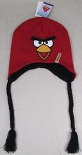 ANGRY BIRDS REVERSIBLE RED BIRD Unisex Beanie Laplander Hat Red NEW NWT
