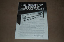 Pioneer  SX-450 Stereo Receiver Magazine Original Print Ad  High Fidelity