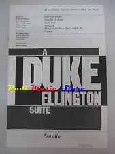 SPARTITO A DUKE ELLINGTON suite NOVELLO VOICES cd mc dvd lp