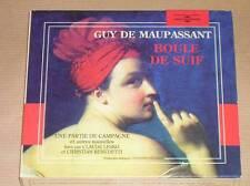 BOITIER 2 CD / MAUPASSANT / BOULE DE SUIF + 3 NOUVELLES  LUES PAR CLAUDE LESKO
