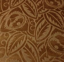 CLARENCE HOUSE PALAIS DE CHAILLOT BROWN LEAF FLORAL VELVET FABRIC BY THE YARD