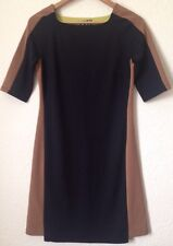 Next Size 8 Black / Brown Block Print Dress <BC807