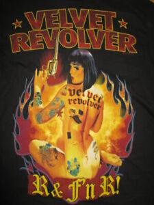 2005 VELVET REVOLVER (MED) T-Shirt SLASH Duff McKagan Scott Weiland Matt Sorum