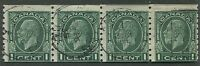 CANADA #205 USED STRIP OF 4