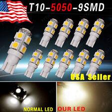 10 X Warm White T10 Interior lights 9 SMD 5050 LED lights 12V W5W 192 168 194