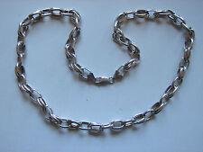 Espesor decorativo cadena de plata, años 925 plata, 50cm, 35 gramos