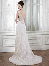 Slim A-Line Illusion Back Wedding Dress Verina Marie MaggieSottero Ivy/nude 12