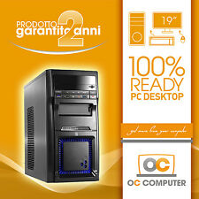 "PC DESKTOP INTEL QUAD CORE HD 1TB/RAM 8GB/MONITOR 19""/ COMPUTER ASSEMBLATO FISSO"