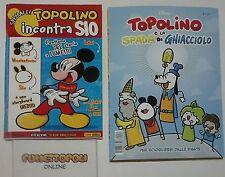 TOPOLINO INCONTRA SIO + TOPOLINO E LA SPADA DI GHIACCIOLO Panini Disney NUOVI