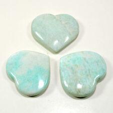"""2.1"""" Amazonite Heart Whitish Green Polished Crystal Mineral Gemstone India 1PCS"""