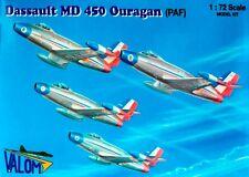 """Md 450 Ouragan """"Patrouille de France"""" (especial francés af mkgss) 1/72 Valom"""