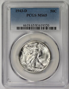 1943-D Walking Liberty Half Dollar 50C MS 65 PCGS