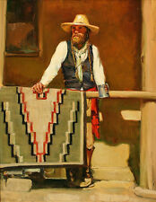 Wall art Canvas HD Print Cowboy Oil painting Picture printed on canvas L241