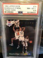 1992 Upper Deck Shaquille O'Neal ROOKIE RC #1b Trade Card PSA 8.5 Shaq