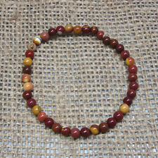 5mm Mookaite Bead Bracelet - Stretch - Crystal Healing - Fast Free US Shipping