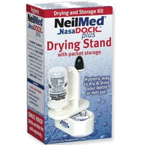 NeilMed NasaDock Plus Sinus Rinse Drying Stand With Storage