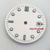 31mm sterile white watch Dial eta 2836/2824 2813/3804 Miyota 8215 821A movement