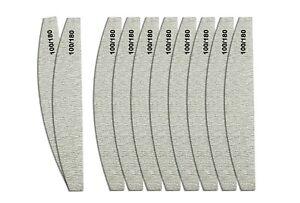Zebra Halbmond Nagelfeilen Set für Acryl & Gelnägel 100/180 Körnung Doppelseitg