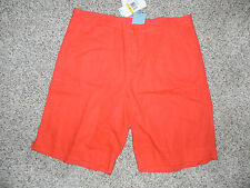 "C&C California Shorts Small Waist 32"" Linen Blend Solar Red NWT $78"