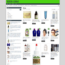 HAIR CARE WEBSITE WITH ONE YEARS HOSTING NEW DOMAIN
