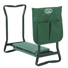Foldable Kneeler Garden Bench Stool Soft Cushion Seat Pad Kneeling  w Tool Pouch
