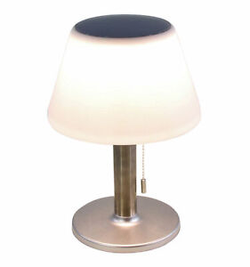 Outdoor Solar Tischlampe - 28 cm / 10 warme LED - Deko Lampe Tisch Leuchte Außen