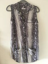 SOLD OUT Equipment Silk Dress Snakeskin Print Two Pockets Front