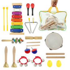 Wooden Kids Music Instruments Kit Children Toddlers Toys Percussion Set Gift