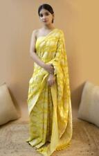 New Bollywood Banarasi Silk Saree Sari Ethnic Party Wear Kanchipuram Indian AC