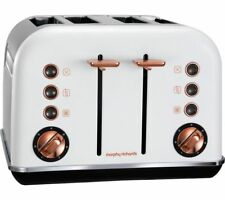 Morphy Richards Accents 4 Slice Wide Slot Toaster In White Rose Gold 242106